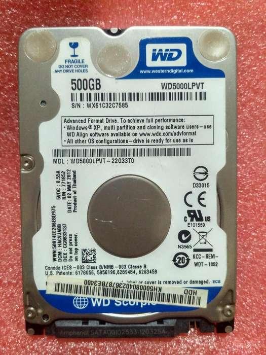 Disco Duro WD 500 Gb