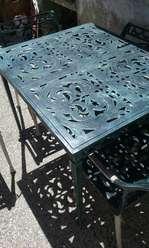 Juego de Jardin en Fundicion de Aluminio