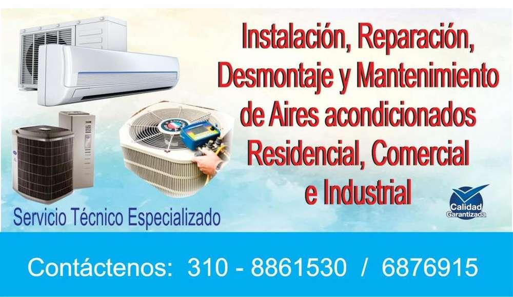 Instalación, mantenimiento,reparación y desmontaje de aires acondicionados 310-8861530