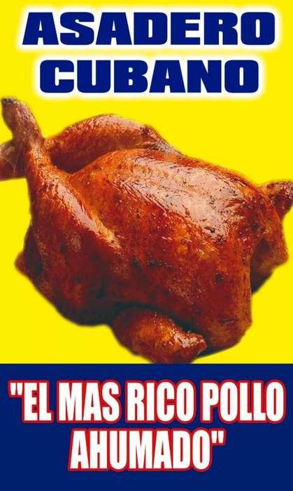 pollo ahumado al carbon CUBANO