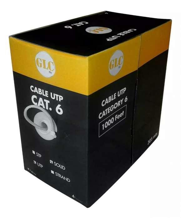 Caja de Cable UTP Cat 6 Interior 305 mts. Stock de 7 cajas disponibles.