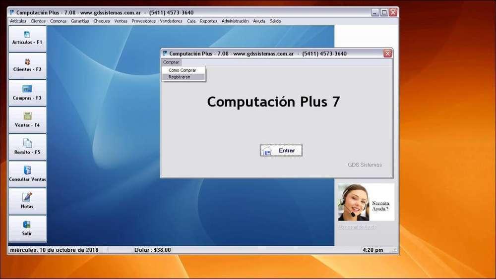 :': COMPUTACIÓN PLUS :': Programa de gestión y facturación para rubro INFORMÁTICA :: <strong>software</strong> GDS Sistemas