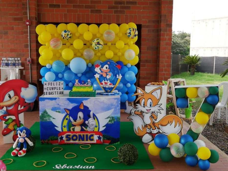 Sonic Decoración Cumpleaños