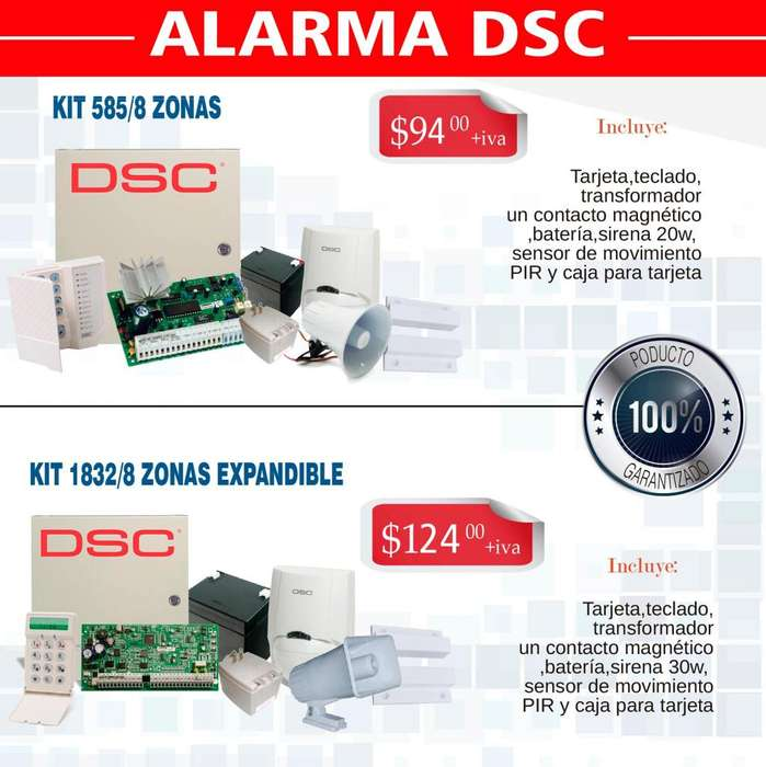 Alarmas de seguridad dsc 585 /1832 alarma inalambrica inteligentes gsm sensor de movimiento infrarrojo boton panico