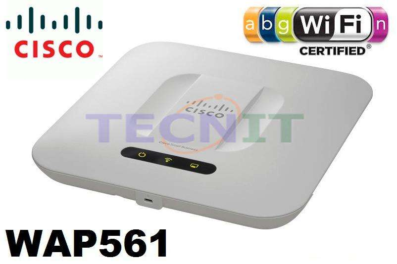 ACCESS POINT WIRELESS N CISCO SMB WAP561AK9 DUAL BAND S. 450MBPS GIGABIT SOPORTE POE