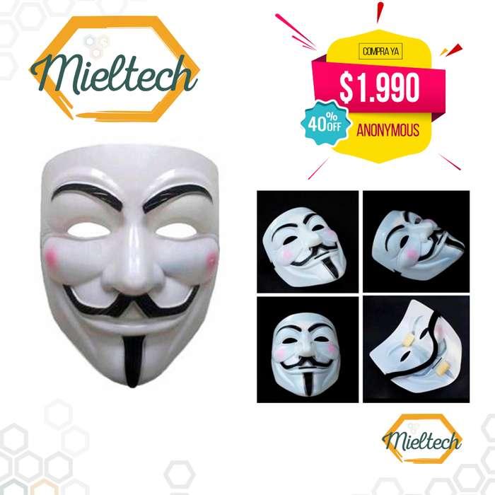 Mascara V Vendetta Anonymous disfraz halloween hora loca