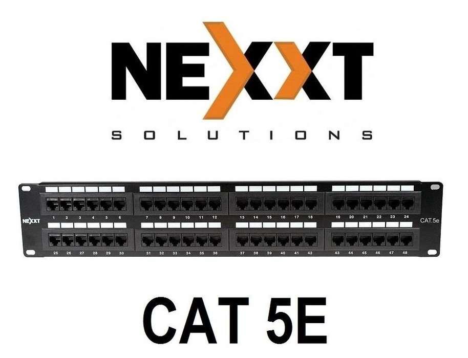 PATCH PANEL NEXXT AW190NXT11 CAT5E DE 48 PUERTOS PARA RACK DE 19