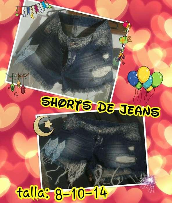 Lindos Shorts de Jeans