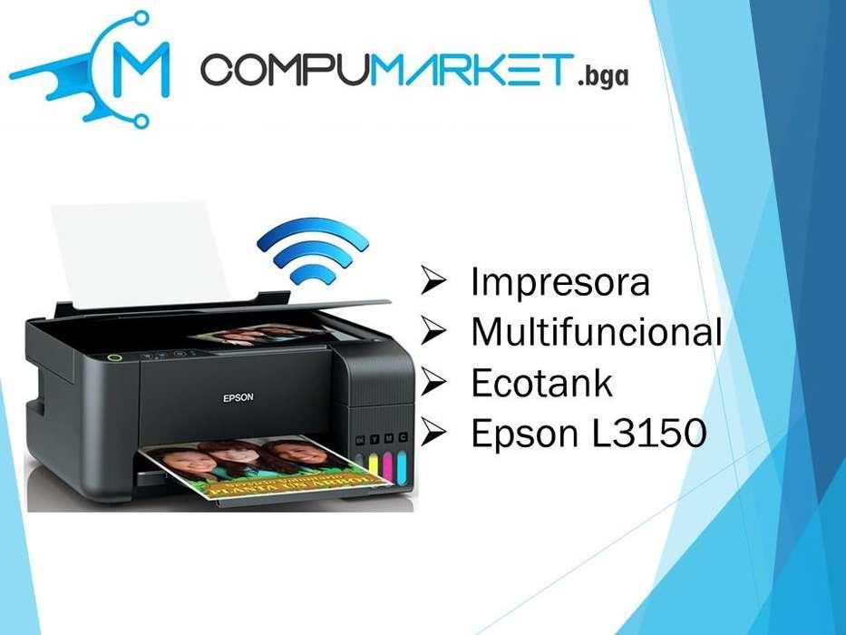 Impresora Epson Multifuncional Ecotank L3150 nuevo y facturado