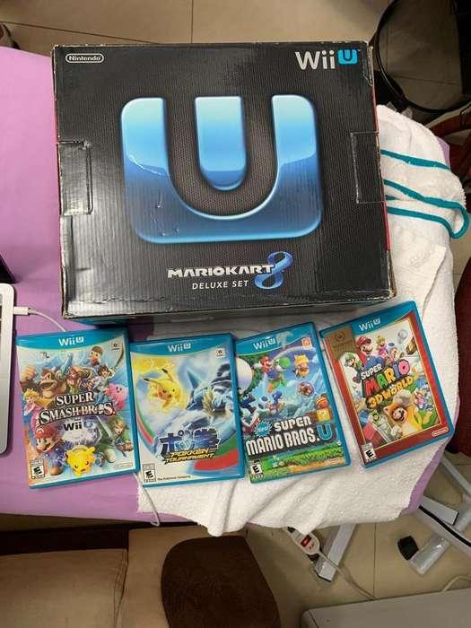 Nintendo Wii U 4 Juegos Consola