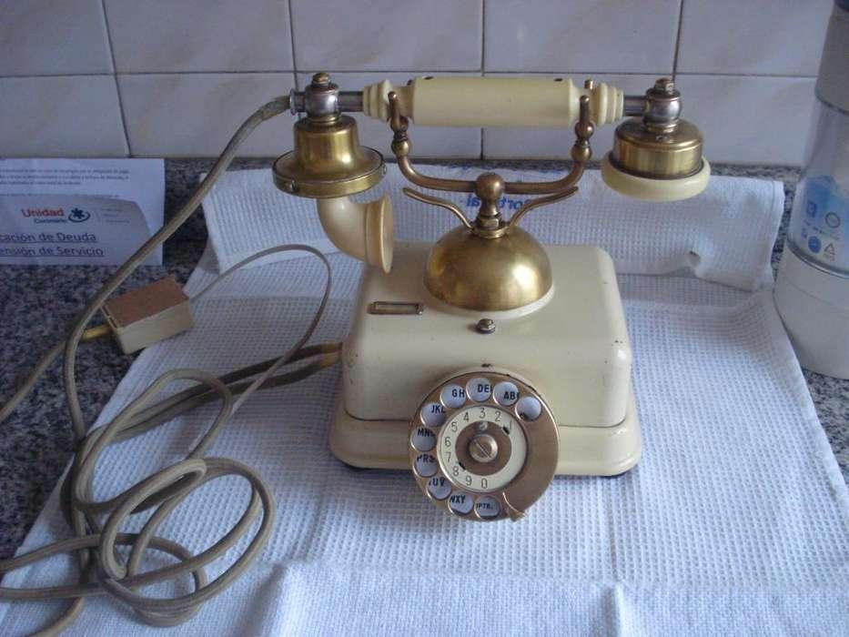 telefono antiguo americano decada del 50 funcionando