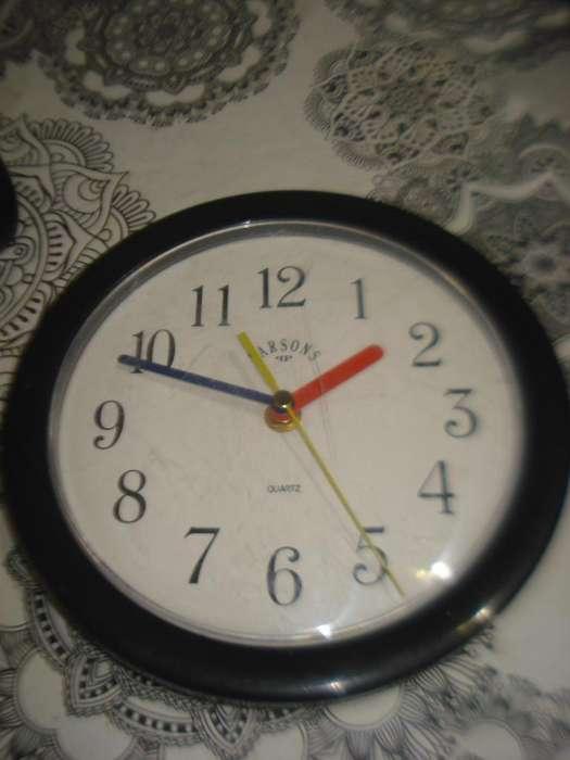 Reloj Parsons De <strong>pared</strong> A Pila Funciona Leer No Envio