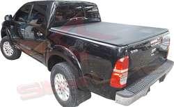 Carpa Plana Lona Toyota Hilux Con Marca Enrollable Riel Aluminio Camioneta Ref MC101 ¡Envío Gratis!