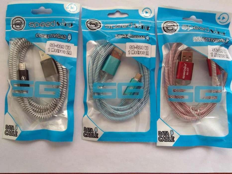 CABLES USB LUMINOSOS EQUIPOS ANDROID CAMBIAN DE COLOR