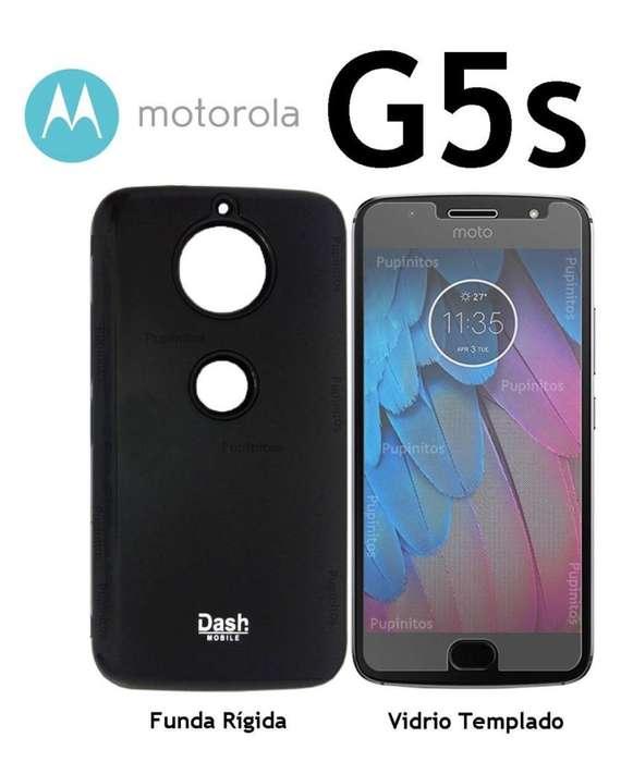 Funda Rígida Vidrio Templado Motorola Moto G5s Rosario