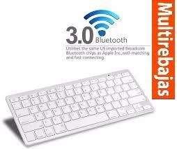 Teclado Bluetooth Slim Para Tablet Ipad Tv Box Pc S8 Iphone