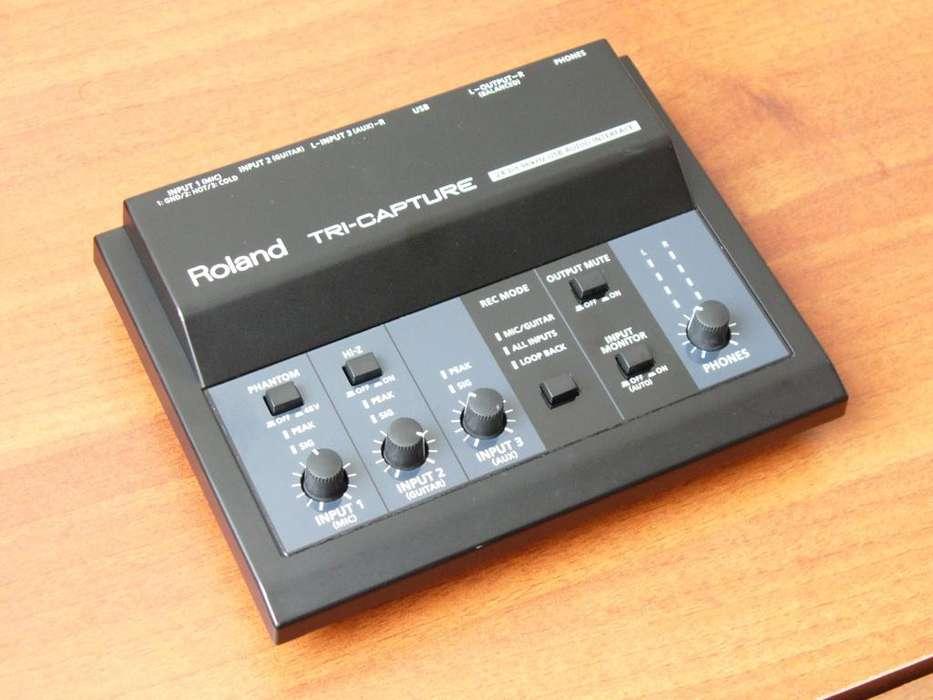 Roland TriCapture estupenda interface de audio USB 24 96 3 canales de entrada SUPERTECLADOS