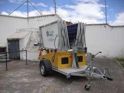 Remolque Jirafa  Torre de Iluminación  Solar