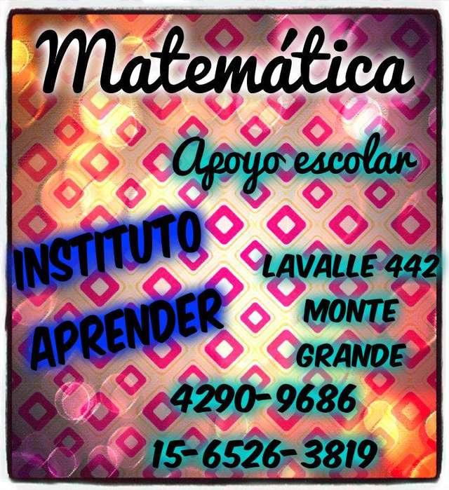 Matemática, apoyo escolar en Monte Grande