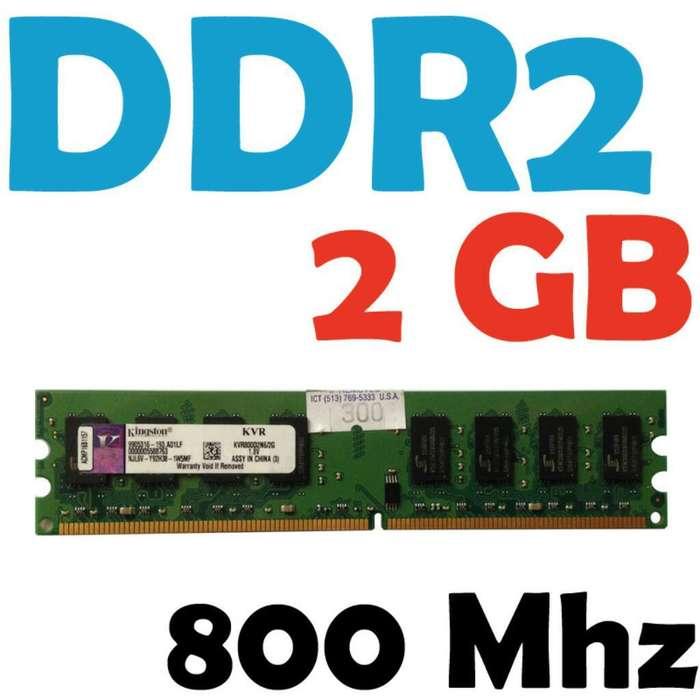Memorias Ram Ddr2 Pc 800 800mhz Garantia