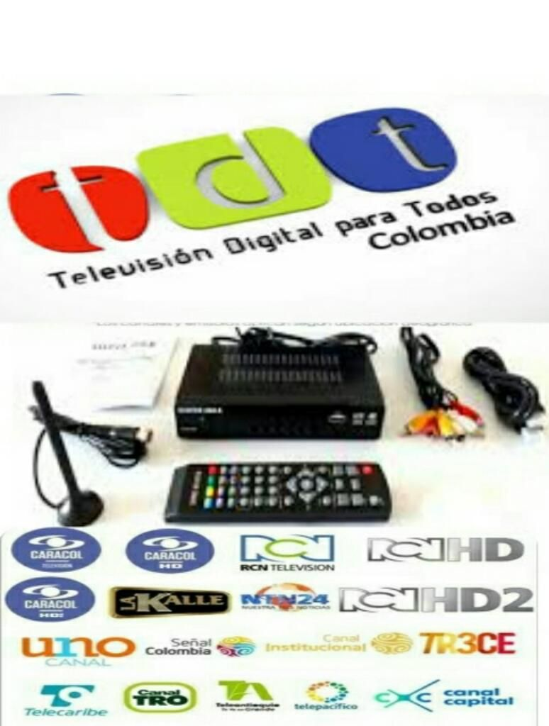 Decodificador Tdt T2 Hd1080p