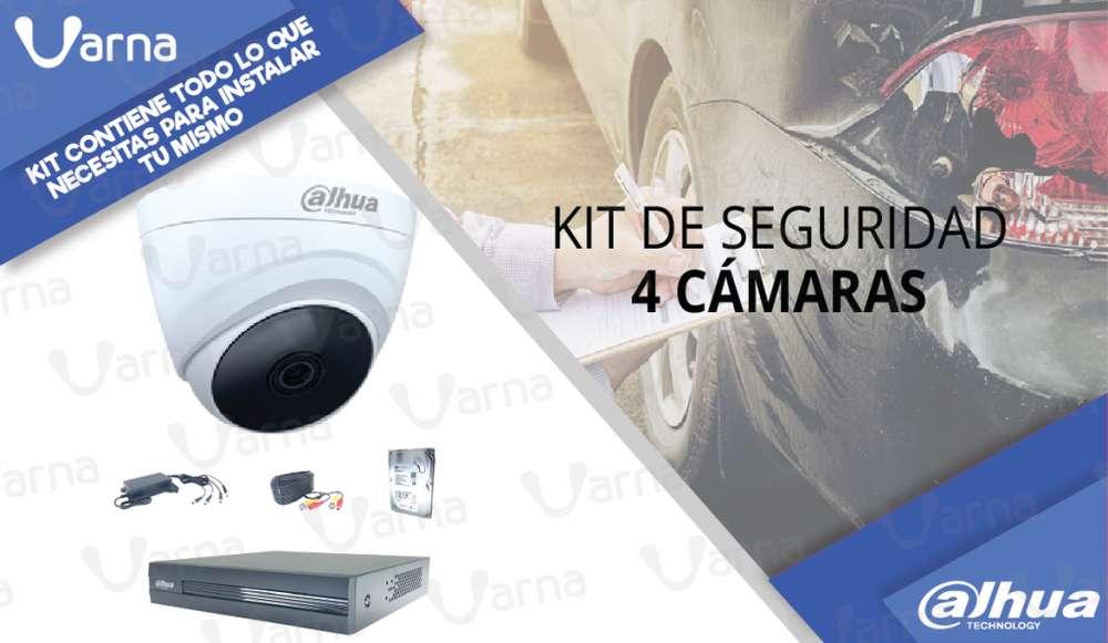 KIT de 4 cámaras de seguridad HD 1080p <strong>monitor</strong>eate tu mismo
