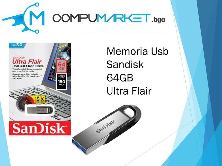 Memoria usb sandisk 64gb ultra flair nuevo y facturado