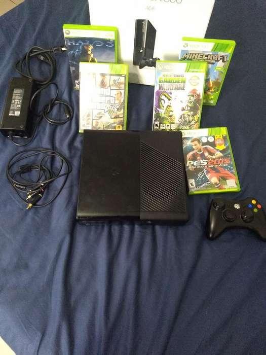 Xbox 360 Un Control 5 Juegos Originales
