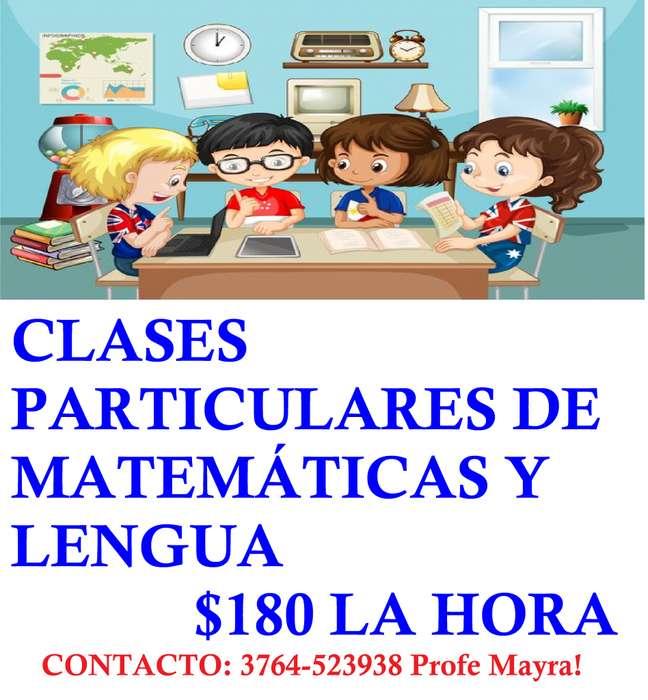 CLASES PARTICULARES DE LENGUA Y MATEMATICAS