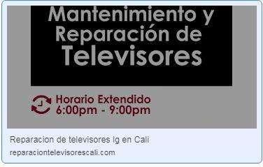 Reparación de televisores LG en Cali.
