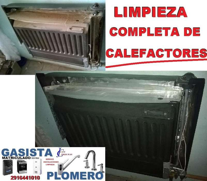 GASISTA MATRICULADO - LIMPIEZA COMPLETA DE CALEFACTORES , El Mejor Servicio para sus Artefactos de Gas ! 2916441010