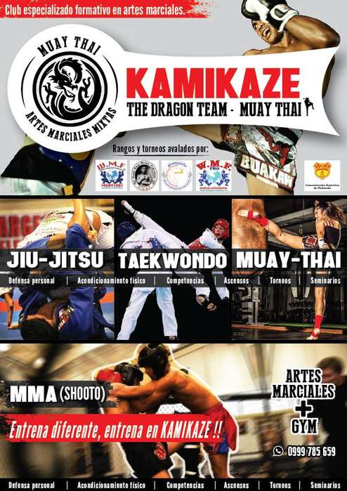<strong>arte</strong>s marciales mixtas. KAMIKAZE Muay Thai.