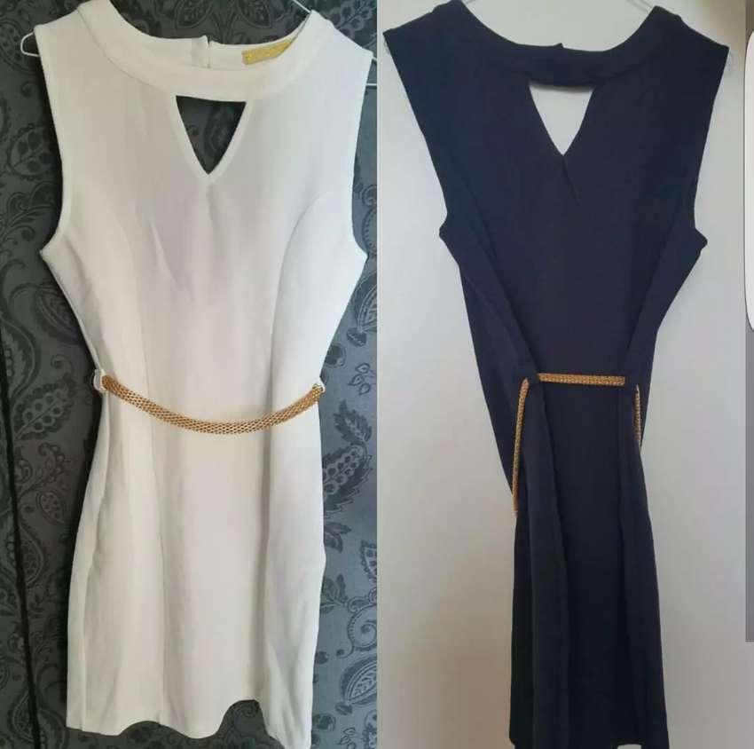 Vestidos Cortos Colores Blanco Azul Negro Ropa Y