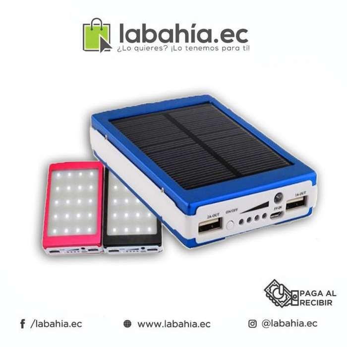 Power Bank Solar 20000mAh con linterna LED banco de bateria