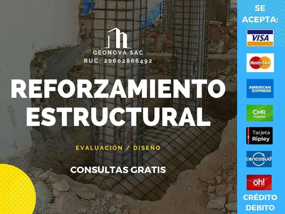 REFORZAMIENTO, VERIFICACIÓN Y DISEÑO DE ESTRUCTURAS / GEONOVA SAC / 946191359