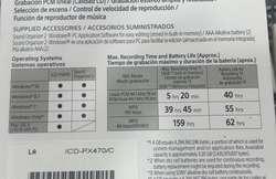 Grabador digital Sony para periodista ICD-PX470 NUEVO