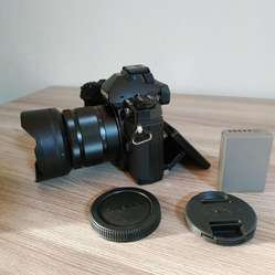 Camara Olympus OMD E M1 16.0mp Cuerpo Touch CON LENTE LUMIX 35 100MM