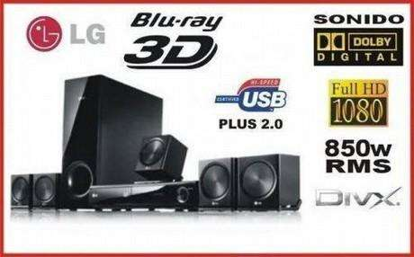 BLURAY 3D HOME THEATRE 5.1 5 parlantes 1 subwoofer 1 lector bluray
