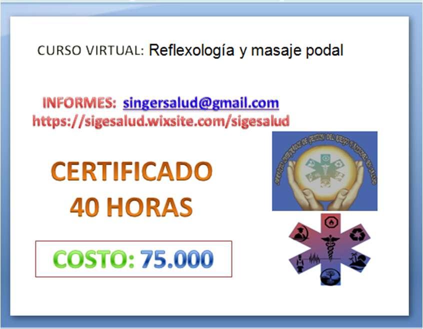75.000 curso virtual Reflexología y masaje podal