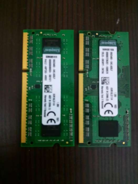 Ram Kingston 8gb Ddr3 2x4gb Notebook