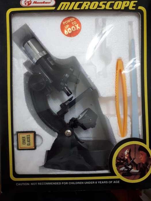 Microscopio y Kit de proyectos electronicos