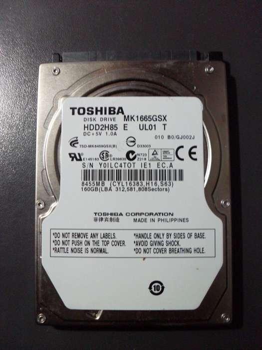 DISCO NOTEBOOK 160GB TOSHIBA MK1665GSX COMO NUEVO