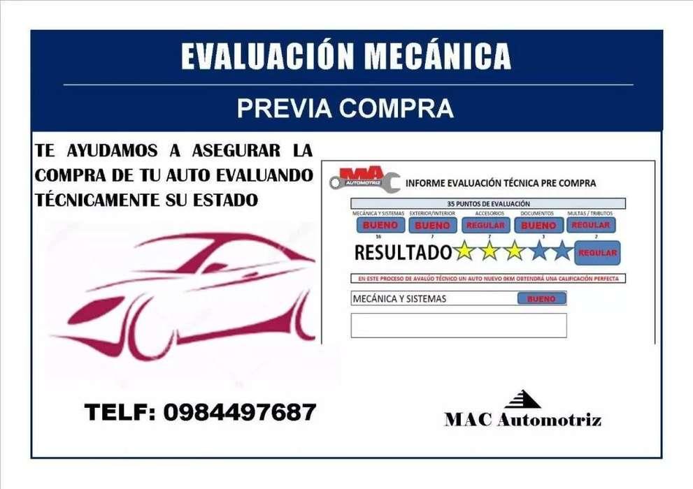 Evaluación mecanica previo a la compra / venta de vehículos, autos usados