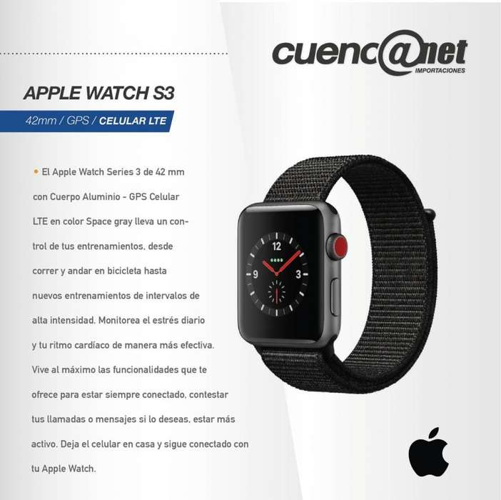 Apple Watch Series 3 Gps 42Mm Cel. Lte