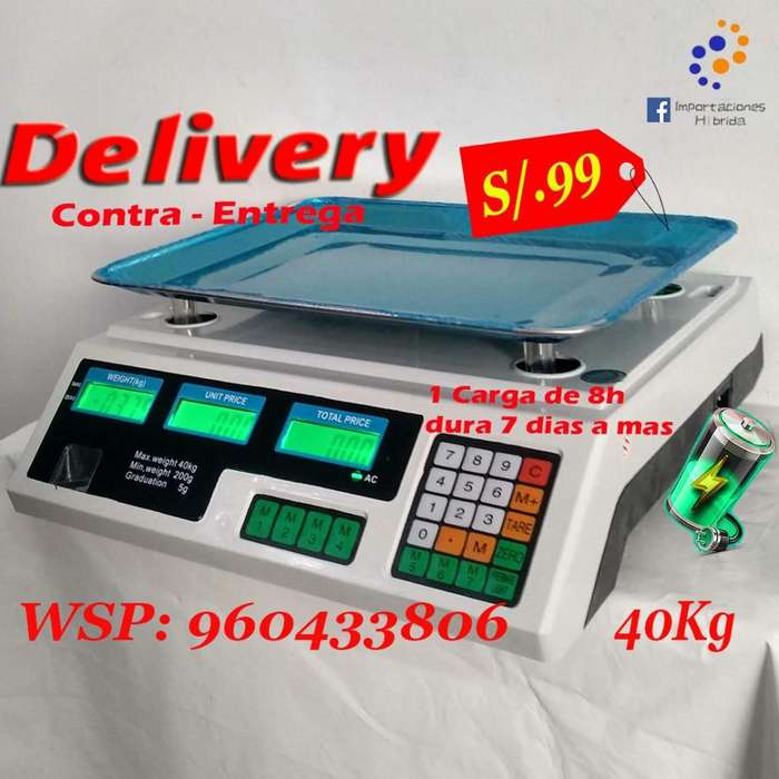 Balanza digital de bodega 40 kilos recargable tienda peso no celular bicicleta huawei samsung lg pc