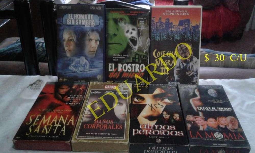 VENDO LOTE DE 37 VHS CON SUS CAJAS EN BUEN ESTADO TODO 1000 PESOS