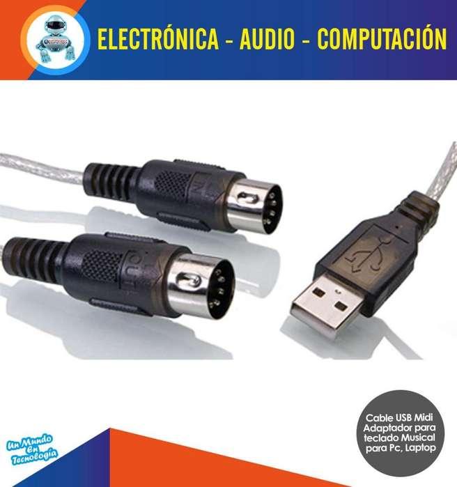 Cable Usb Midi 5 Pines Para Teclado Adaptador Convertidor