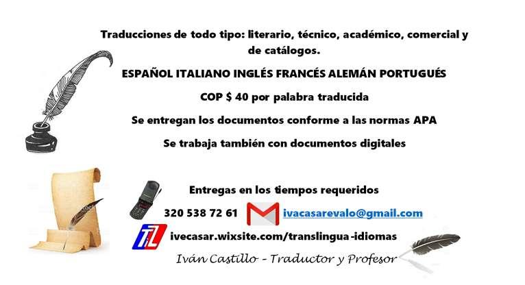 Traducciones de todo tipo y en todo idioma. Inglés Francés Portugués Alemán.