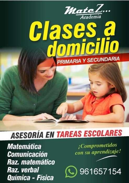 clases particulares a domicilio nivel primario y secundario en chiclayo