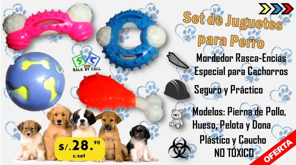 Pack De Juguetes Limpia Dientes Para Perros